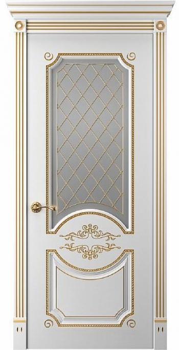 Межкомнатная дверь Прима 1 ПО со стеклом м витражом