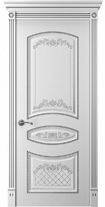 Дверь Прима 3 ПГ патина серебро