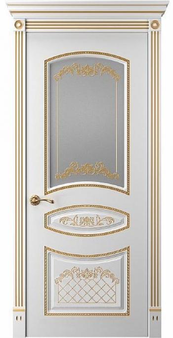Дверь Прима 3 ПО патина золото