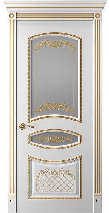 Межкомнатная дверь Прима 4 ПО патина золото