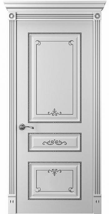Дверь Прима 5 Глухая патина серебро