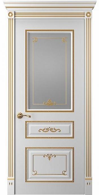 Межкомнатная дверь Прима 5 ПО патина золото
