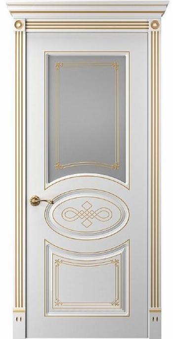 Межкомнатная дверь Прима 7 ПО патина золото