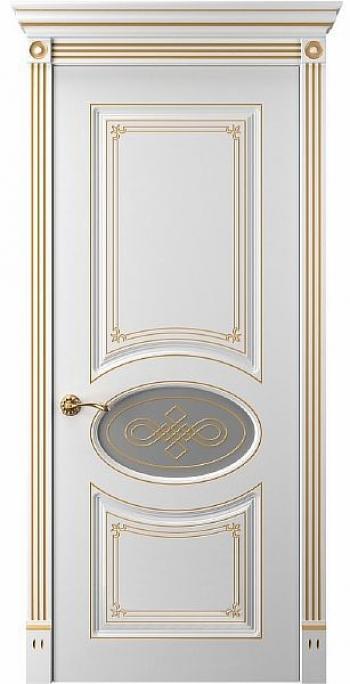 Межкомнатная дверь Прима 8 Остекленная с витражом