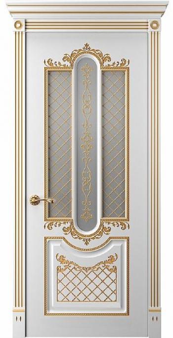 Межкомнатная дверь Прима 2 ПО патина золото