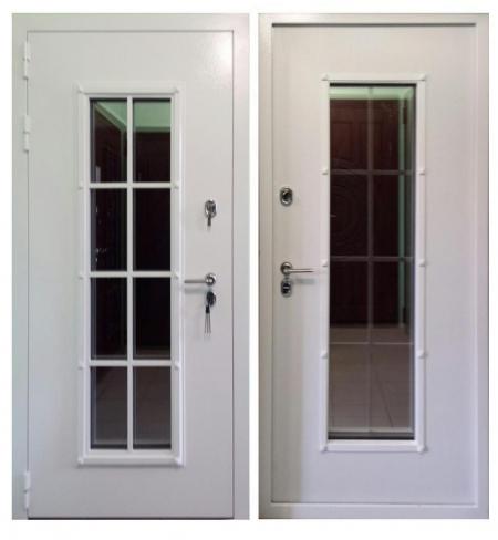 Уличная дверь Англия с терморазрывом и стеклопакетом
