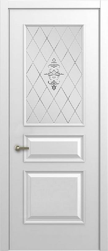 Межкомнатная дверь Малетти М4 ДО с алмазной гравировкой