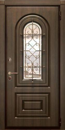 Входные двери Гардиан Самарканд с окном и ковкой в Нижнем Новгороде