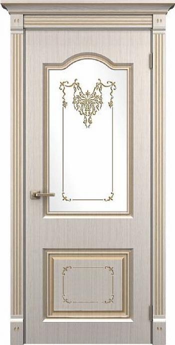 Межкомнатная дверь Таскания ДО с заливным витражом