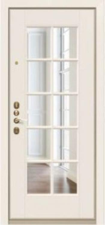 Дверная МДФ панель Вента 01 белое стекло