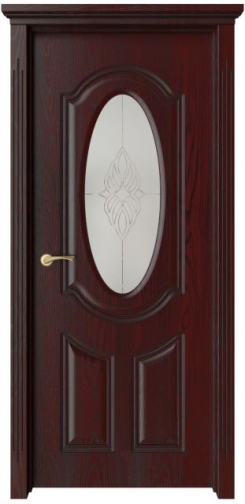 Межкомнатная дверь Барселона с черной патиной