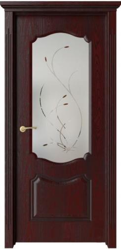 Межкомнатная дверь Богема счерной патиной