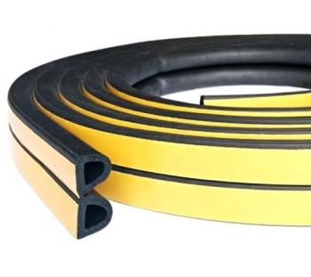 Уплотнитель дверной резиновый 12х10 мм