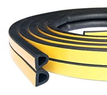 Уплотнитель дверной резиновый 14х12 мм