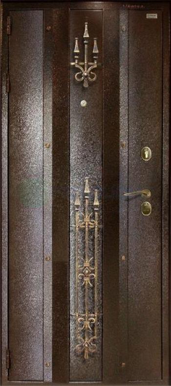 Входные двери с ковкой 130