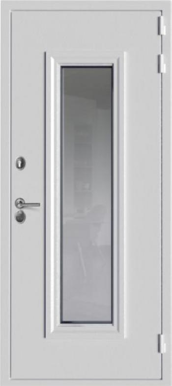 Металлическая отделка входной двери Гардиан ДС10  №186 с окном