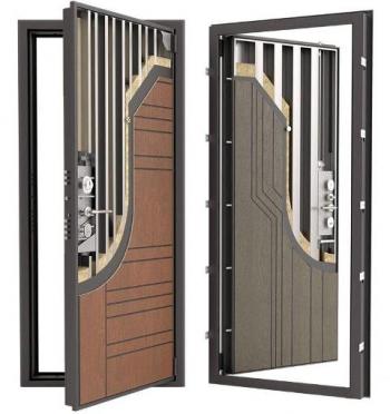 Усиленная дверь Гардиан ДС9У с теплоизоляцией премиум класса