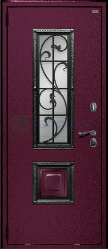 Металлические двери с окном и ковкой | Нижний Новгород