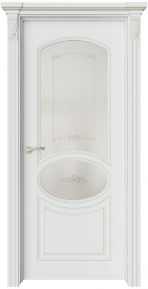 Межкомнатная дверь Эври 4 патина шампань