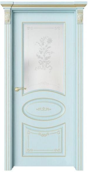 Дверь Флоранж 3 Деко патина золото
