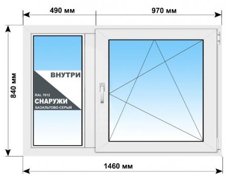 Готовые пластиковые окна ПВХ 2