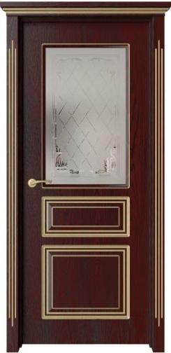 Межкомнатная дверь Кардинал с золотой патиной