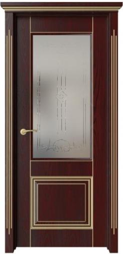Межкомнатная дверь М3Р с золотой патиной