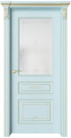 Дверь Мирбо 3 Деко патина золото, стекло Вензель