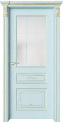 Дверь Мирбо 3 Деко патина золото, стекло Корсика