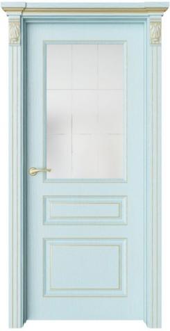 Дверь Мирбо 3 патина золото, стекло Корсика