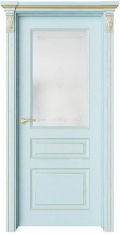 Дверь Мирбо 3 патина золото, стекло Вензель
