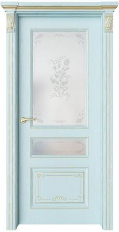 Дверь Мирбо 4 Деко патина золото, стекло Фрезия