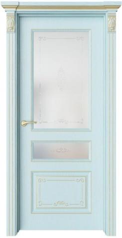 Дверь Мирбо 4 Деко патина золото, стекло Вензель