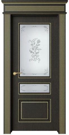 Дверь Мирбо 4 патина золото, стекло Фрезия