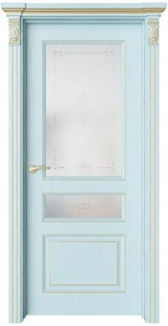 Дверь Мирбо 4 патина золото, стекло Вензел
