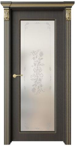Дверь Монторо 2 патина золото, рисунок Фрезия