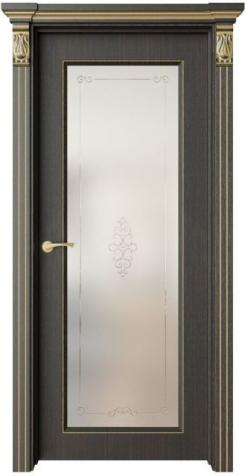 Дверь Монторо 2 патина золото, рисунок Вензкл