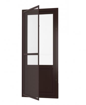 Дверная рамочная москитная сетка коричневая со стандартным полотном
