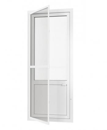Дверная рамочная москитная сетка из белого алюминиевого профиля со стандартным полотном