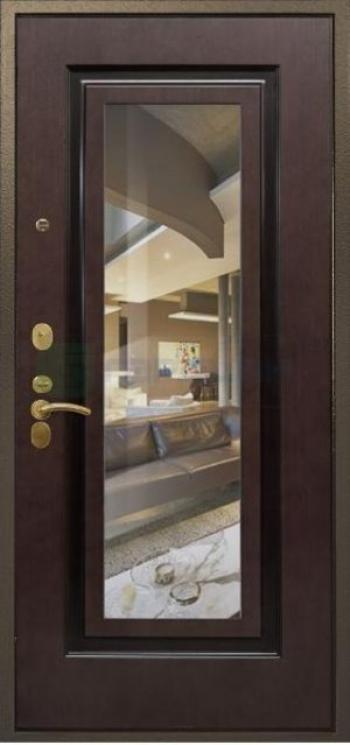 Дверная панель с зеркалом Нарцисс 02