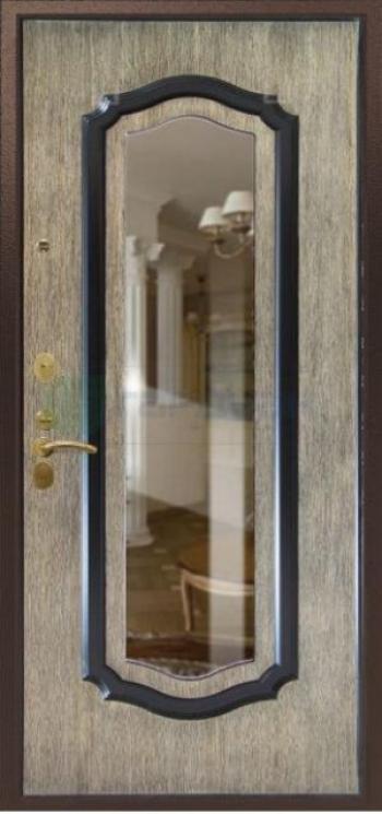 Дверная панель с зеркалом Нарцисс 04