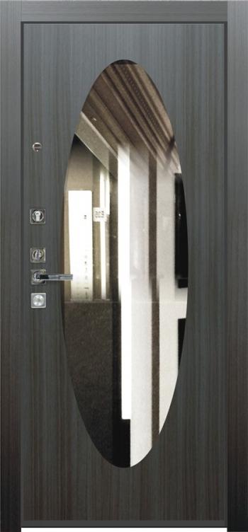 Дверная панель с зеркалом Нарцисс 08