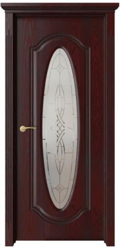 Межкомнатная дверь Оливия с черной патиной