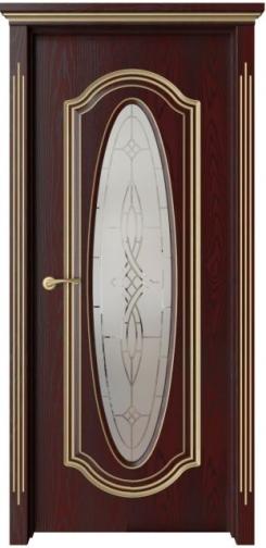 Межкомнатная дверь Оливия с золотой патиной