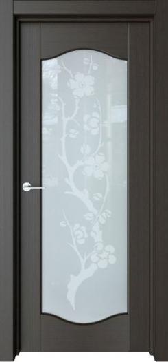 Межкомнатная дверь Престиж Классика с рисунком Японский цветок