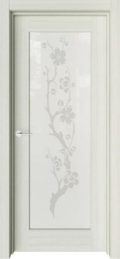 Межкомнатная дверь Престиж с рисунком Японский цветок