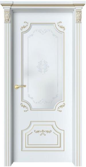 Дверь Руан 2 Ажур патина золото