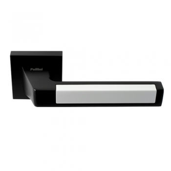 Ручка дверная Лиссабон черный / белый