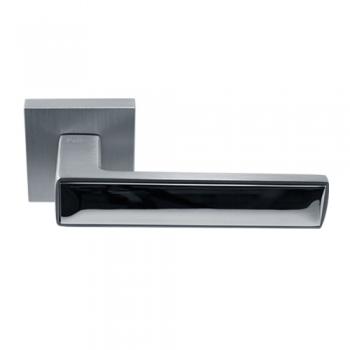 Ручка дверная Нью-Йорк матовый хром / полированный хром