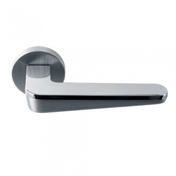 Ручка дверная Сидней матовый хром / полированный хром